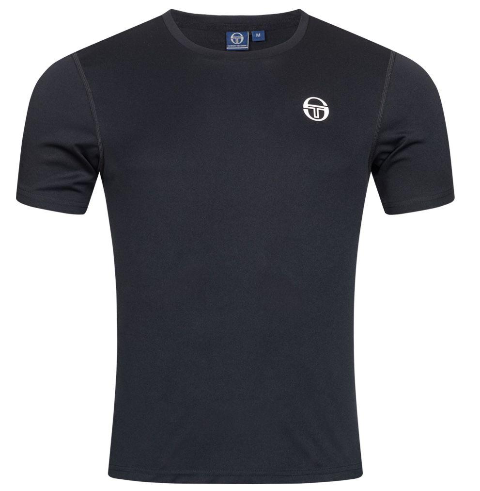 Sergio Tacchini Zitan Herren T Shirt in Schwarz für 9,50€ (statt 18€)   S, M, L