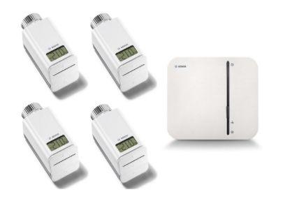 Bosch Smart Home Heizung Starter Set (Gateway + 4 Heizkörperthermostate) für 157,23€ (statt 235€)