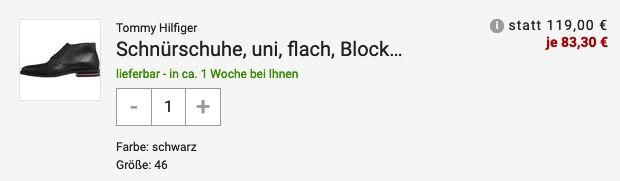 Tommy Hilfiger Lace up Stiefel aus Glattleder in Schwarz für 83,30€ (statt 116€)