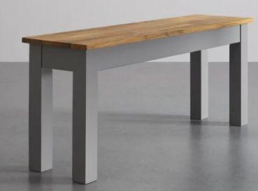 Esstisch Maxi aus Massivholz 130x80 cm für 117,25€ (statt 165€)   Sitzbank für 55,30€ optional dazu