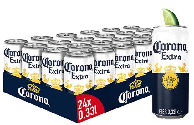 24er Tray Corona Extra Premium Lager Dosenbier für 16,89€ + 6€ Pfand