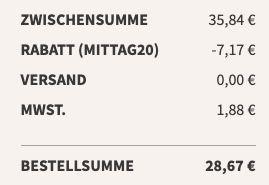 16x Little Lunch Erbseneintopf mit Kartoffelstücken für 28,67€   nur 1,79€ pro Stück