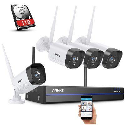 4x Annke 1080P Full-HD Überwachungskamera mit 1TB, Nachtsicht und IP66 Wetterfest für 206,99€ (statt 250€)