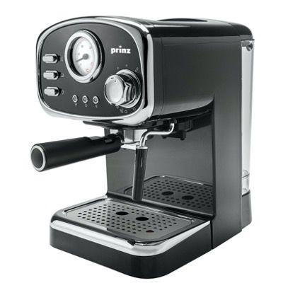 Prinz Espressomaschine PZ EM1 Schwarz im Retrodesign für 89,99€ (statt 185€)