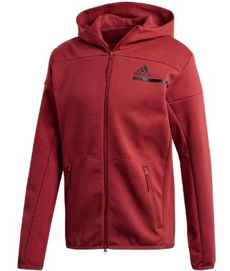 adidas Kapuzenjacke ZNE FZ Aeroready in Weiß oder Rot für je 44,95€ (statt 59€)