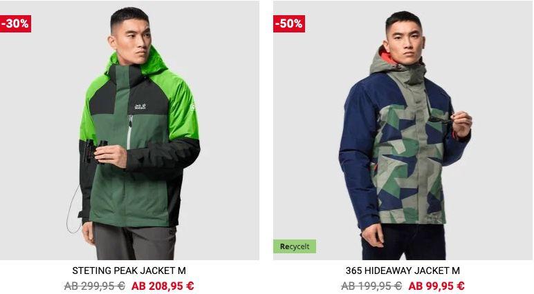 Jack Wolfskin Sale bis 50% Rabatt + VSK frei ab 100€   z.B. Skei Trail Hardshell Jacke für 114,95€ (statt 224€)