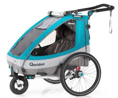 Qeridoo Sportrex 2 (2020) Kinderfahrradanhänger für 397,58€ (statt 459€)
