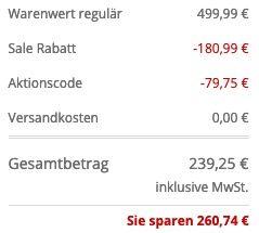 BOSS Parka Domerlos mit Daunenfedern Füllung in Schwarz und Blau für 239,25€ (statt 319€)   52 & 54