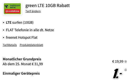 Apple iPhone SE 2020 64GB für 1€ + Vodafone Allnet Flat inkl. 10GB LTE für 19,99€ mtl.