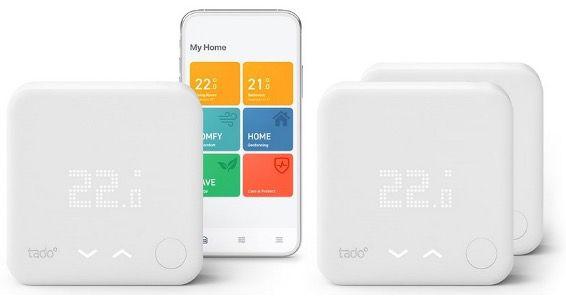 tado Smart Starter Kit V3+ mit 3 Raumthermostaten für 239€ (statt 300€)