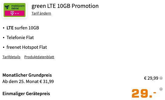 Apple iPhone 11 für 29€ + Telekom Allnet Flat inkl. 10GB LTE für 29,99€ mtl.