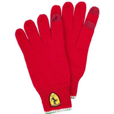 Scuderia Ferrari Touchscreens-Strickhandschuhe für 6,65€ (statt 18€)