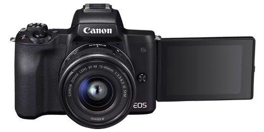 CANON EOS M50 Systemkamera 24.1 MP als Kit mit 15 45mm Objektiv ab 434€ (statt 589€)