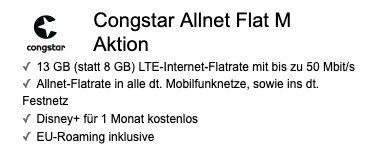 Nintendo Switch (neue Edition) für 1€ + Telekom Flat von Congstar mit 8GB LTE für 22€ mtl.