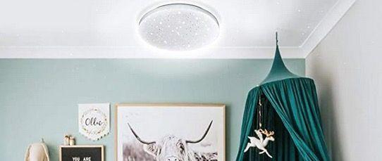 Hengda LED Deckenleuchte in Kaltweiss mit Sternendekor 12Watt für 9,79€ (statt 14€)