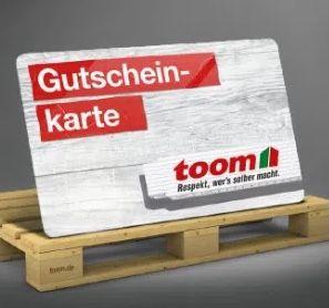 toom Baumarkt nächster Freitag: ab 100€ Warenwert 20€ Gutschein gratis oben drauf