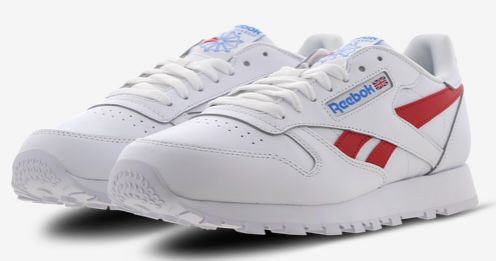 Reebok Classic Leather Herren Sneaker in Weiß Rot für 39,99€ (statt 60€)