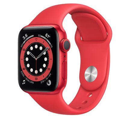 Apple Watch Series 6 (44mm & GPS) in Rot mit Sportarmband für 335,90€ (statt 390€)