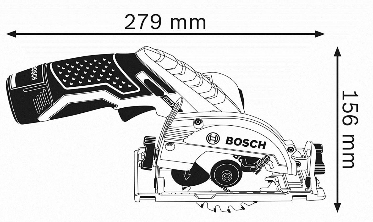 Bosch GKS 12V 26 Akku Kreissäge inkl. 2x 3,0 Ah Akku + Ladegerät für 125,99€ (statt 169€)