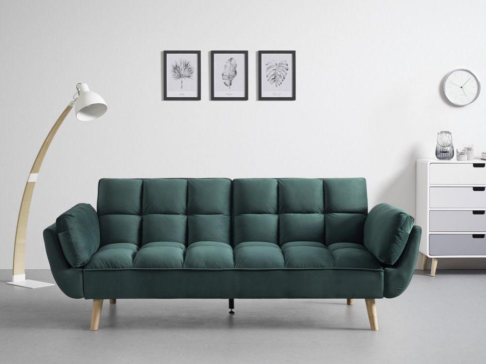 Bessagi Cora Echtholz Sofa in Blau, Grau und Grün (214x92cm) für 239€ (statt 299€)