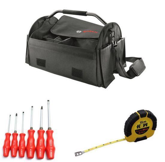 Bosch Werkzeugtasche mit Zubehör für 22,22€ (statt 30€)