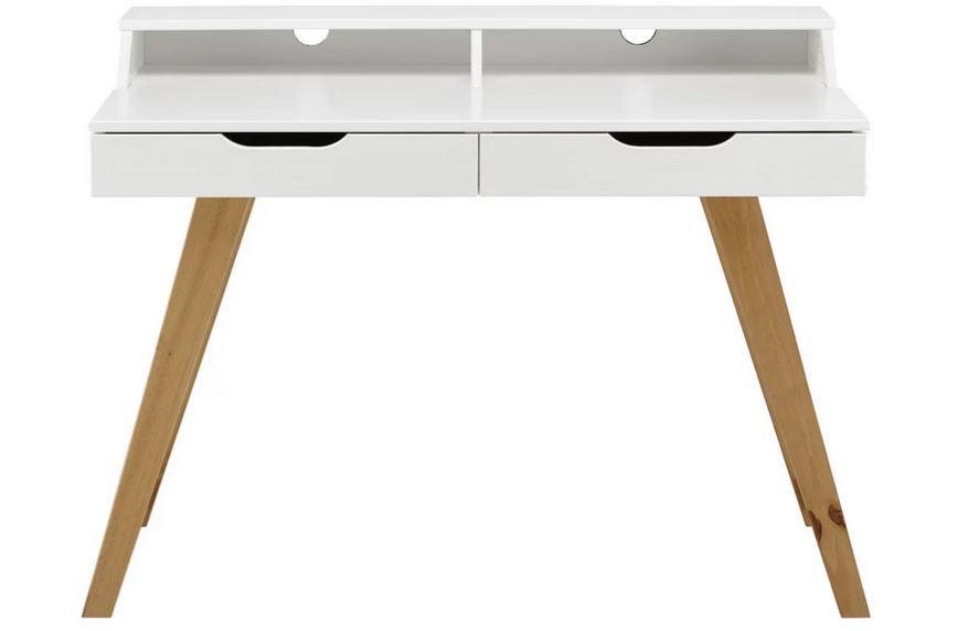 Zandiara Durham weißer Kiefer Schreibtisch für 105,35€ (statt 143,95€)