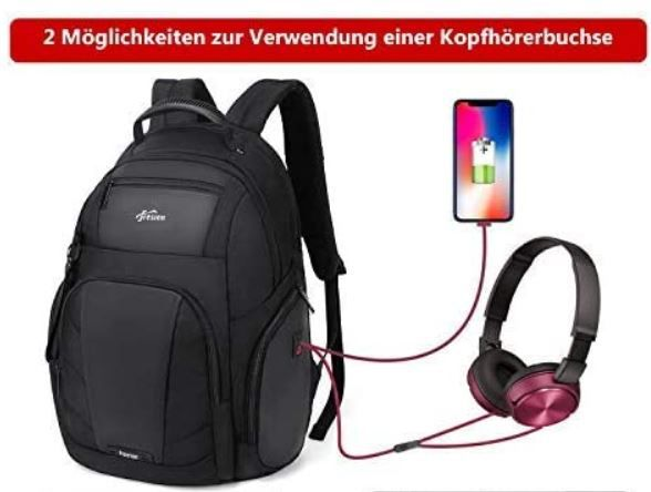 Mupack Freston   Business Rucksack 43l für bis zu 17.3 Zoll Laptops für 19,99€ (statt 50€)