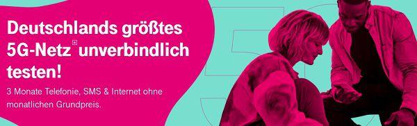 Telekom: MagentaMobil Try&Buy Allnet Flat mit 6GB LTE 5G inkl. Disney+ für Neukunden drei Monate gratis