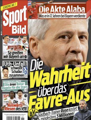 Gratis! 12 Ausgaben Sport Bild ganz ohne Prämie (statt 34€)