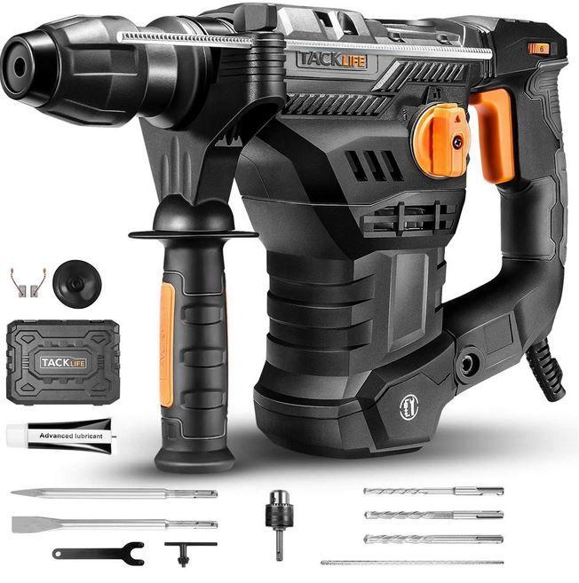 TACKLIFE Bohrhammer SDS-Plus 1.500W mit Zubehör für 79,99€ (statt 106€)