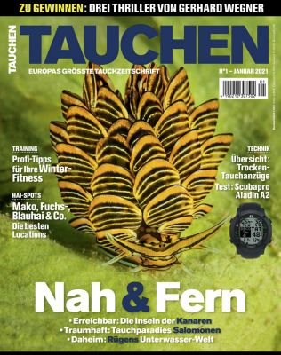 6 Ausgaben vom Tauchen Magazin für 48€ + 50€ Amazon Gutschein