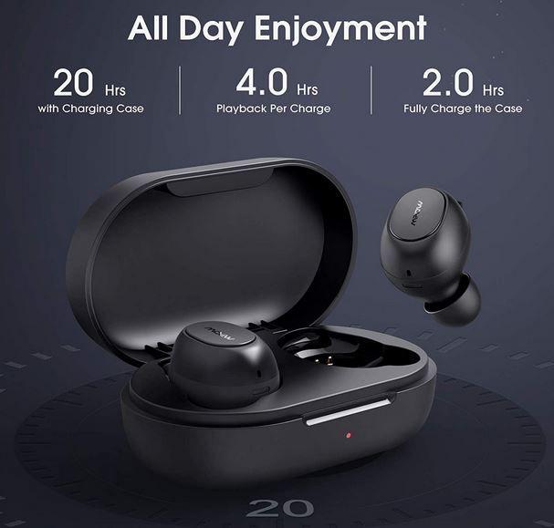 Mpow MDots Bluetooth in Ear Buds mit Ladeschale für 17,99€ (statt 30€)