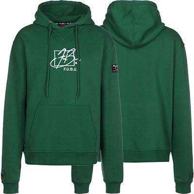 FUBU Script Hooded Sweatshirt in Grün für 31,60€ (statt 53€)