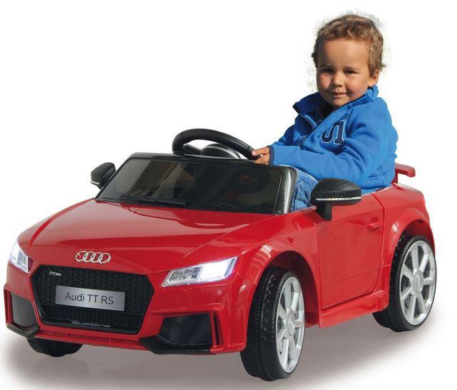 JAMARA Elektro Audi TT RS 12V Schwarz- o. Rot für 124,99€ (statt 174€)