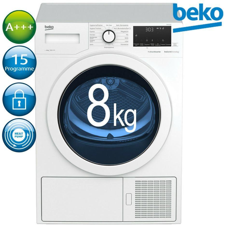 Beko DH85T6GX Wärmepumpentrockner 8kg für 444,44€ (statt 586€)