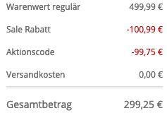 BOSS Parka Domerlos mit Daunenfedern Füllung in Schwarz für 299,25€ (statt 399€)   54 bis 58
