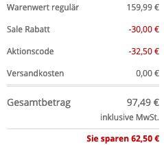 McNeal Herren Kurzmantel mit Stretch Anteil in Schwarz für 97,49€ (statt 130€)
