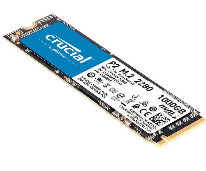 Crucial P2 M.2 1TB interne SSD für 84,58€ (statt 102€)