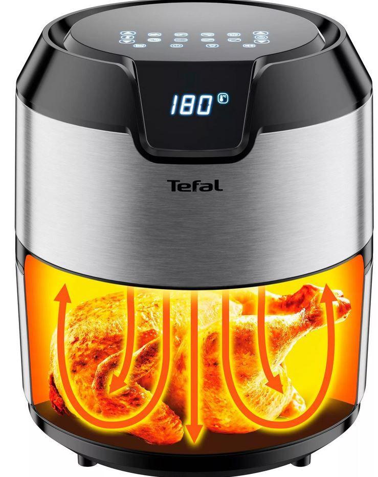 Tefal Heissluftfritteuse EY401D Easy Fry Deluxe Heißluftfritteuse (1500 W, 4L) für 109,99€ (statt 141€)