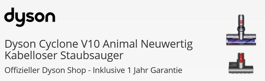 Dyson V10 Animal Akku Staubsauger für 359€ (statt neu 453€)   neuwertig