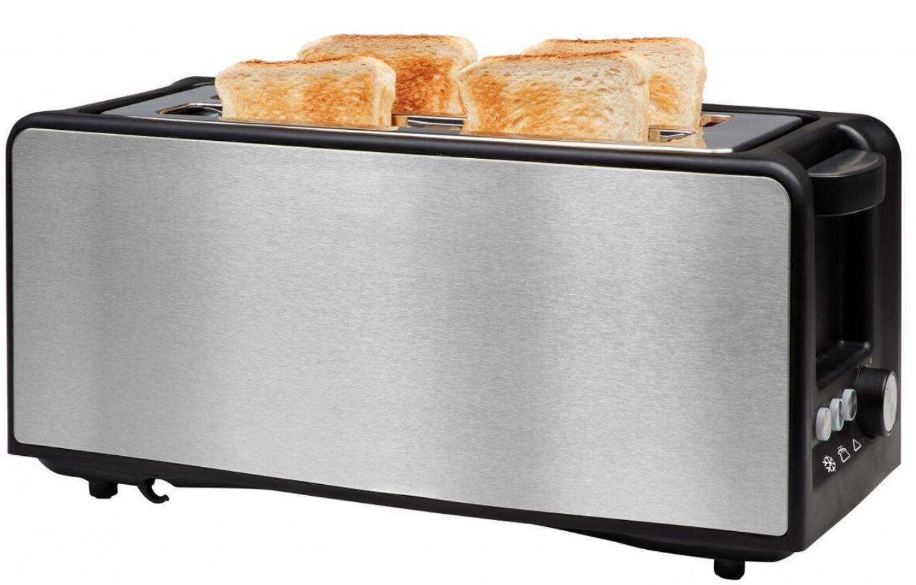 NoName  4 Scheiben Edelstahl Langschlitz Toaster mit LED für 19,99€