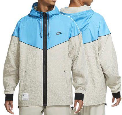 Nike Air Woven Jacke in Creme & Türkis für 57,90€ (statt 70€)