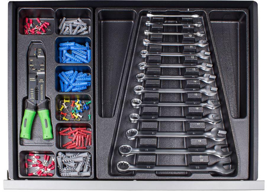 Starkmann Blackline Werkzeugwagen inkl. 599 Werkzeuge & Zubehör für 289,99€ (statt 398€)