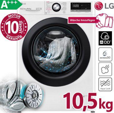 LG F4WV310SB Waschmaschine (A+++, 10.5 kg, 1400 U/min) für 469,99€ (statt 520€)