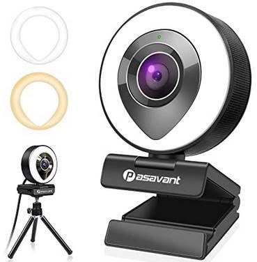 1080p Webcam mit Ringlicht, Stativ & Mikrofon für 24,99€ (statt 60€)