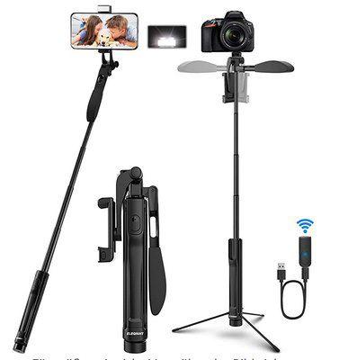 Elegiant EGS-07 4in1 Selfie Stick & Stativ für 15,59€ (statt 24€) – Prime