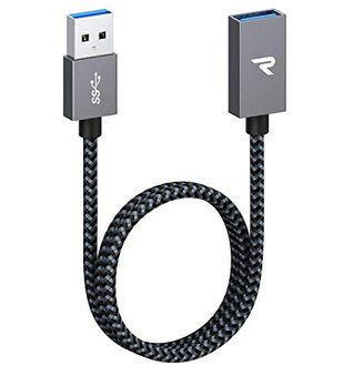 RAMPOW USB 3.0 Verlängerungskabel (0,5m) für 4,24€ – Prime