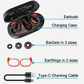 Bakibo S7 BT 5.1 TWS InEar Kopfhörer für 13,99€ (statt 28€)