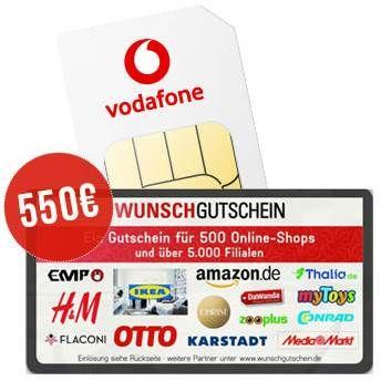 Vodafone Smart XL mit 30GB LTE & 5G(!) für 44,99€ mtl. + 550€ Wertgutschein