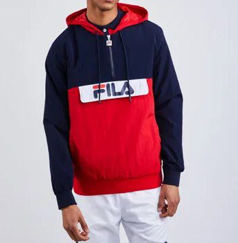 Fila Beaufort Jacke in Blau Rot für 26,99€ (statt 40€)